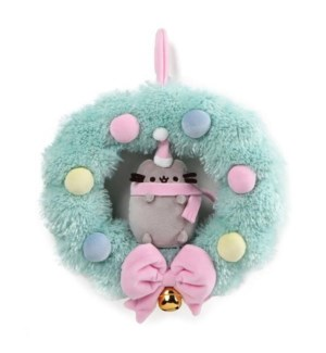 "CHRISTMAS - PUSHEEN WREATH 10"" (2) BL"