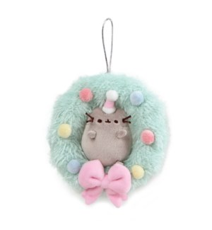 "CHRISTMAS - PUSHEEN WREATH ORNAMENT 4.5"" (6) BL"