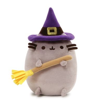 "HALLOWEEN - PUSHEEN - WITCH 4.5"" (6) BL"