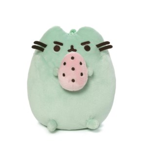 "PUSHEEN - STANDING WITH EGG GREEN 6"" (6) BL"