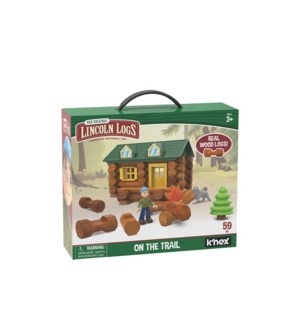 LINCOLN LOGS - ON THE TRAIL BUILDING SET (2) ML