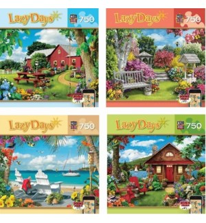 LAZY DAYS 750 PC ASST. (4) 31573 31574 31575 31576 *D*