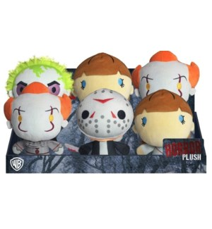 "7"" WB HORROR PLUSH ASST IN PDQ (6)"
