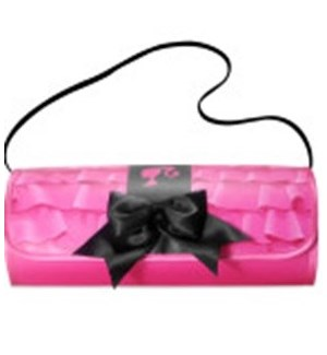 BARBIE BLACK BOW CLUTCH & CLOSET (6) *D*