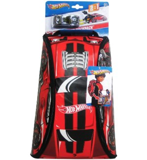 ZIPBIN HOT WHEELS 45 CAR CRASH RACER BACKPACK *D*