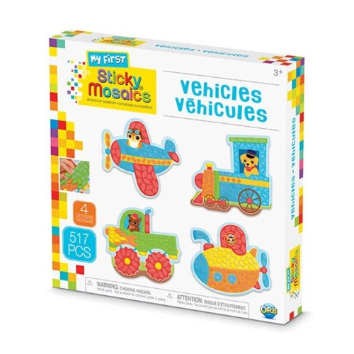 MY FIRST STICKY MOSAICS® - VEHICLES (6) BL *D*