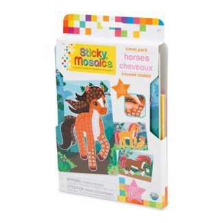 STICKY MOSAICS® - TRAVEL PACK - HORSES (6) BL