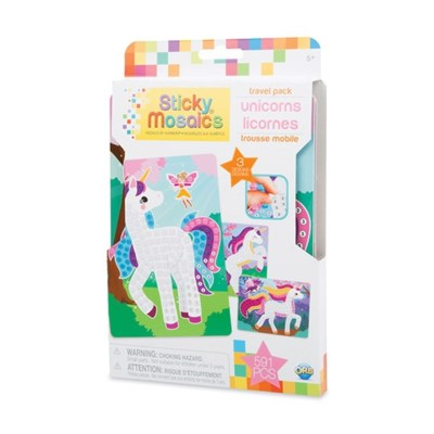 STICKY MOSAICS® - TRAVEL PACK - UNICORNS (6) BL