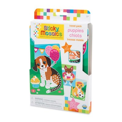 STICKY MOSAICS® - TRAVEL PACK - PUPPIES (6) BL