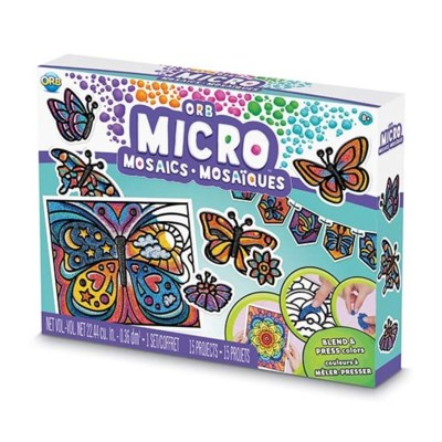 MICRO MOSAIC™ ALL-IN-ONE KIT BUTTERFLIES (6) BL  *D*