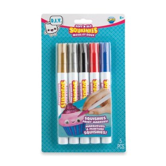 SOFT'N SLO SQUISHIES™ DIY MARKERS - SATURATED (6) BL *SD*
