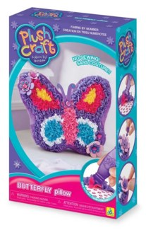 PLUSHCRAFT BUTTERFLY PILLOW (6) BL