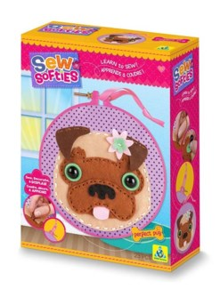 SEW SOFTIES PERFECT PUG (6) *SD* BL