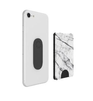WHITE MARBLE POP WALLET (4) BL *F19* *SD*