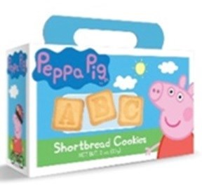 PEPPA PIG ABC SHORTBREAD COOKIE BOX  (12)