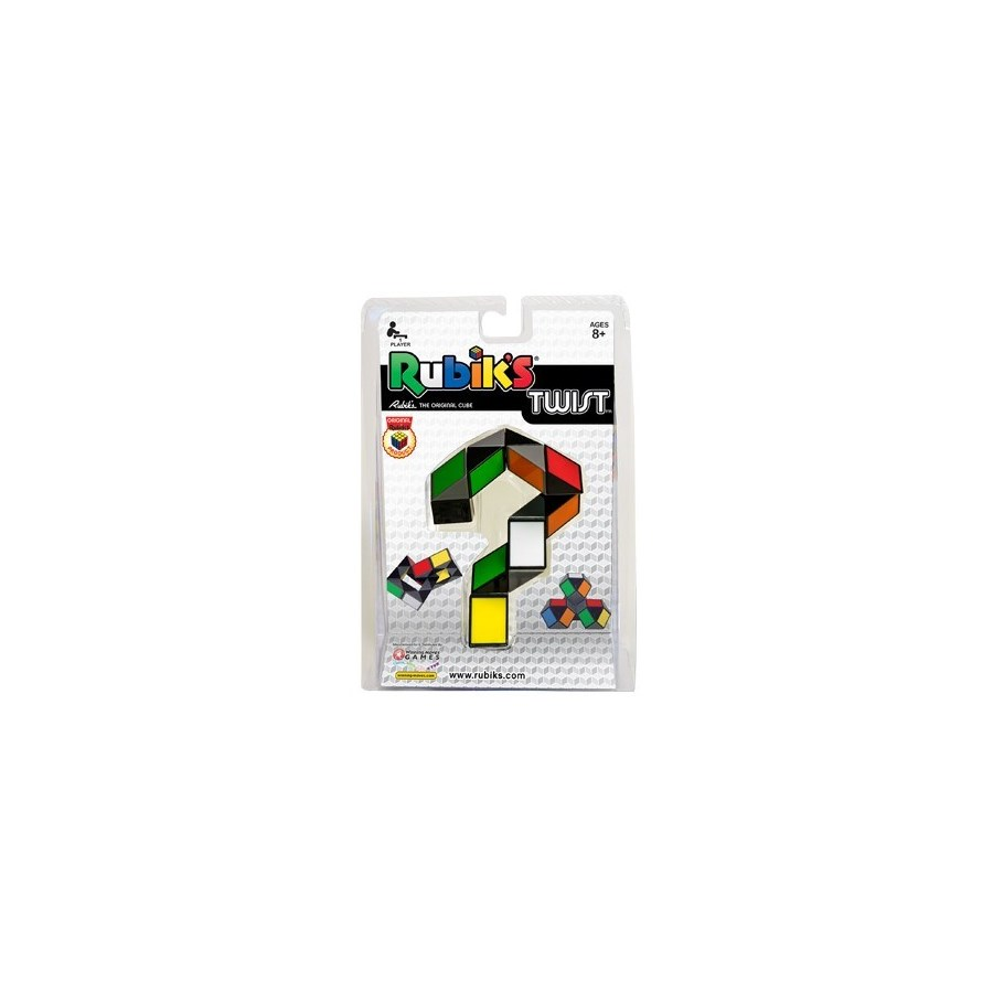 RUBIK'S TWIST MULTI-COLOUR CLAM PKG BL(6)