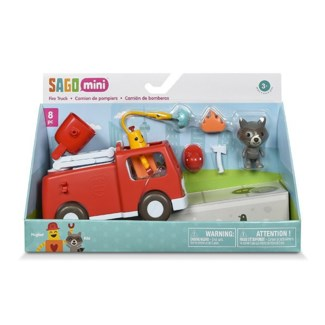 VEHICLE -  FIRE TRUCK 8PC (6) BL