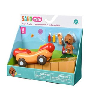VEHICLE - VEGGIE DOG CAR 5PC (8) BL