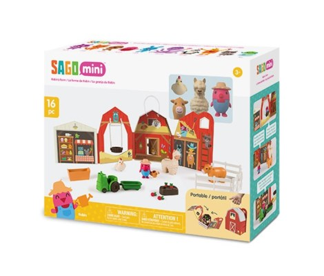 PORTABLE PLAYSET - ROBINS FARM (4) BL