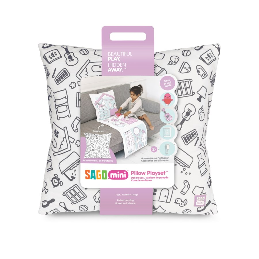 PILLOW PLAYSET - DOLLHOUSE 5PC (3) BL