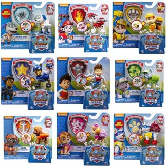 PAW PATROL ACTION PACK PUP AND BADGE ASST-GRAPPLING PUP (6)