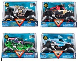 MONSTER JAM - 1:24  DIE CAST TRUCK ASST (6) BL