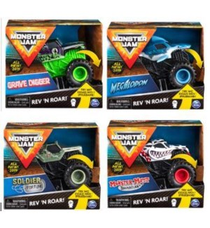 MONSTER JAM REV & RAMBLE TRUCKS (4) BL *SD*
