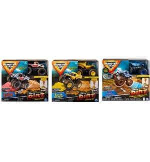 MONSTER JAM KINETIC DIRT STARTER SET (3) BL