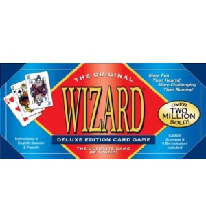 WIZARD DELUXE CARD GAME SET(18) BL