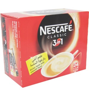 Nescafe 3 in 1 Classic Box (20g 24 Cts.) * 12