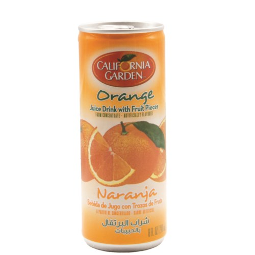 Orange CG Juice w/ Pieces Tin  240 mL x 24