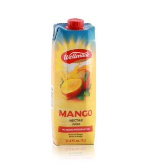 "Juice Mango box ""Wellmade""  1 L * 12"