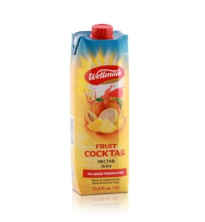 "Juice Cocktail  box ""Wellmade""  1 L * 12"