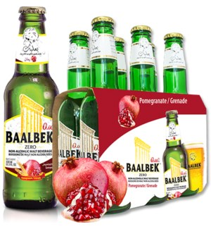 Baalbek Pomegranate malt drink 330ml * 24