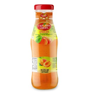 CALIFORNIA GARDEN APRICOT JUICE GLASS 275 ML * 24