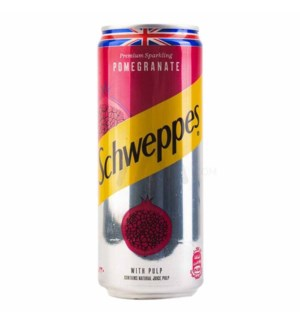 POMEGRANATE SCHWEPPS Tin  11oz *  24