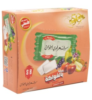 Fruit Sharawi Chewing Gum 100 Ct. x 24 (290g)