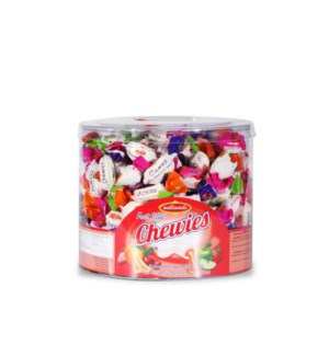 "Fruit Chewy Candies Tub ""Wellmade"" 28.2 oz * 8"