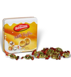"Milk Toffee Tin  ""Wellmade"" packed 750g * 8"