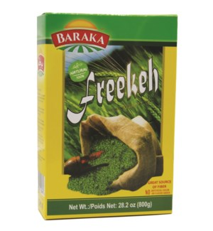 "Toasted Green Wheat (Freekeh) ""BARAKA"" 800 g x 12"