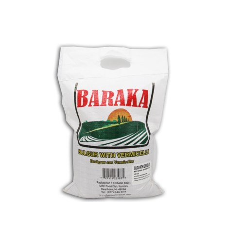"Burgul Yellow # 3 with Vermicelli ""Baraka"" 10 Lbs"