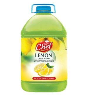 Royal Chef Lemon Juice 1 Gallon * 4