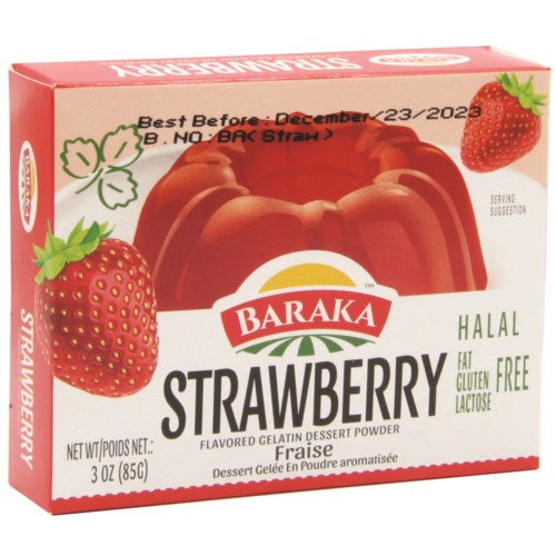 Strawberry Baraka Jello  85 g x 24