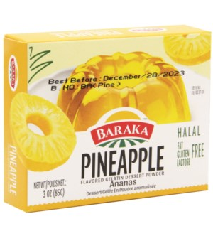 Pineapple Baraka Jello  85 g x 24
