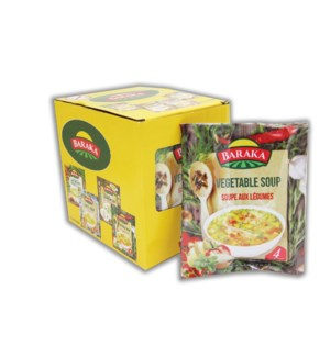 BARAKA Vegetable Soup (53g pouch 12 Cts) * 4 Displ