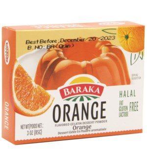 Orange Baraka Jello 85 g x 24
