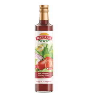 "Red Vinegar Bottle ""BARAKA"" 15.7 Fl oz  x 24"