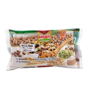 "Dry Chickpeas bag ""Baraka"" packed 1 Lb *  12"