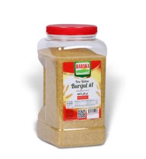 Burgul Fine Yellow #1 in jar (Baraka) packed 6 Lbs