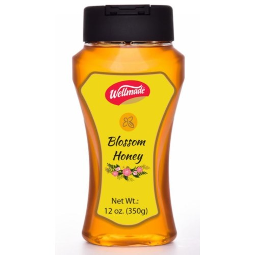 "Blossom Honey Squeezable bottle ""Wellmade"" 350g *"
